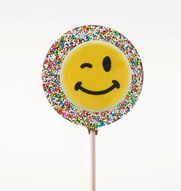 Chocolate Lolly with Smiley