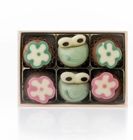 """Cupcakes """"Frog and Flower"""""""