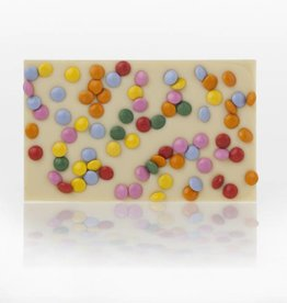 White Chocolate Bar with Smarties