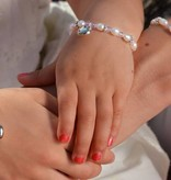 Infinity Boys & Girls Christening Bracelet 'Infinity White' with Cross & Heart