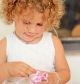 Princess Girls Bracelet 'Princess' with a Puffed Heart Charm