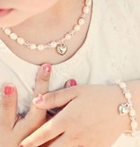 silver jewellery 3 Generations Bracelet 'Infinity Pink' with Heart Charm