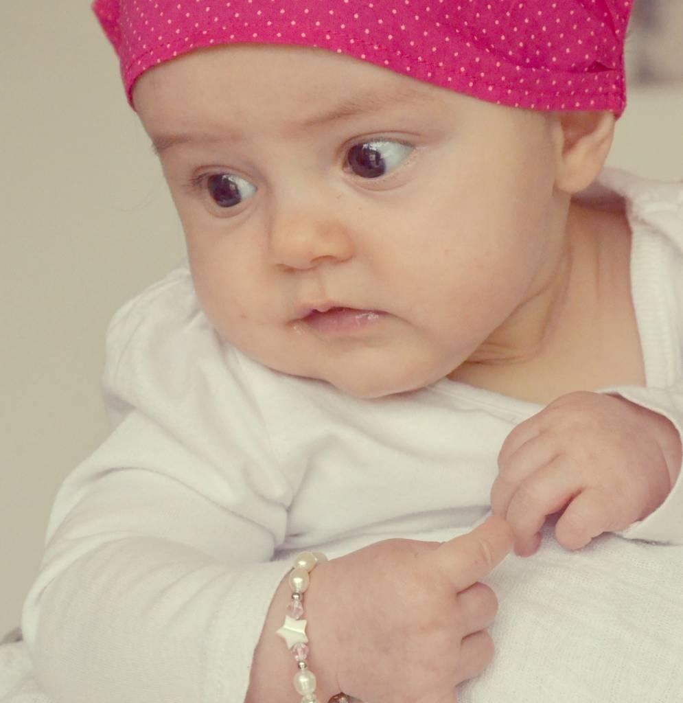 Little Star (silver) Silver Girls Bracelet 'Little Star' with Initial & Heart Charm