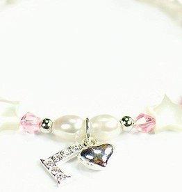 KAYA jewellery Silver Girls Bracelet 'Little Star' Initial & Heart Charm