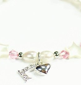 Little Star (silver) Silver Girls Bracelet 'Little Star' Initial & Heart Charm