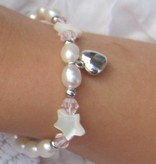 Little Star (silver) Silver Girls Bracelet 'Little Star' with Initial & Heart Charm