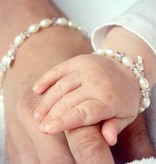 Little Diva (silver) Silver Girls Bracelet 'Little Diva' with Initial Charm