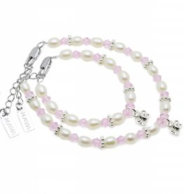 Infinity Mum & Me Bracelet 'Infinity Pink' Butterfly
