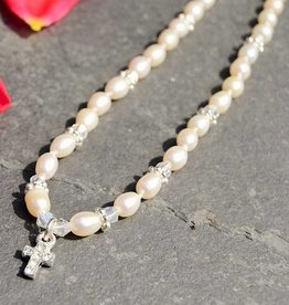 Infinity Communion Necklace 'Infinity White' with Cross