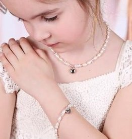 Infinity Girls Jewellery Set 'Infinity Pink' with Heart
