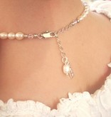 KAYA jewellery Beautiful Pearl Necklace 'Infinity White' with Heart Charm