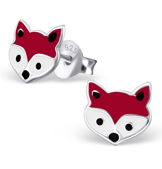 KAYA jewellery Silver Fox Colorful Ear Studs With Epoxy