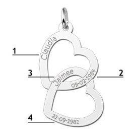 KAYA jewellery Silver Names4ever Engraved Pendant 'Forever Love'