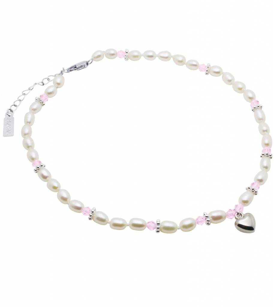KAYA jewellery Necklace 'Infinity Pink' with Heart