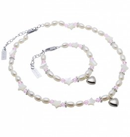 KAYA jewellery Girls Jewellery Set 'Star Pink' with Heart