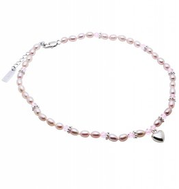 KAYA jewellery Pearl Necklace 'Princess' with Heart