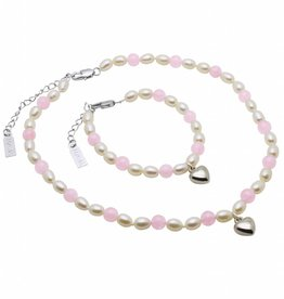 Love Girls Jewellery Set 'Love' with Heart