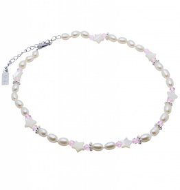 Star Pearl Necklace 'Star Pink'