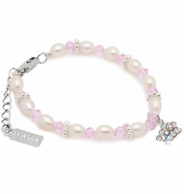 KAYA jewellery Girls Bracelet 'Infinity Pink' Silver Crown Charm