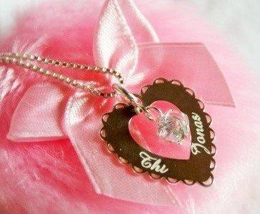KAYA jewellery Silver Engraved Heart Pendant 'Love you always'