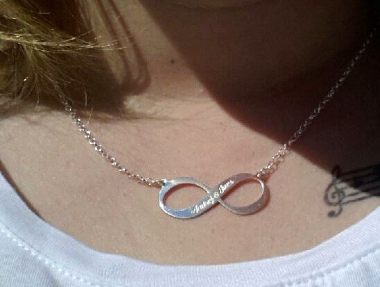 Engraved jewellery Silver Engraved Necklace 'Infinity' 1 or 2 names