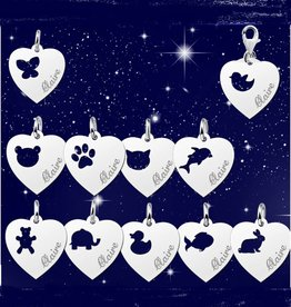 Engraved jewellery Silver Names4ever Heart Charm 'Engrave your name'
