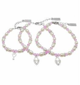 Infinity 3 Generations Bracelet 'Infinity Pink' Key - Heart