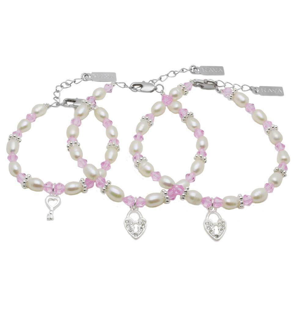 KAYA jewellery 3 Generations Bracelet 'Infinity Pink' Key to my Heart