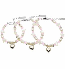 KAYA jewellery 3 Generations Bracelet 'Star Pink' with Heart