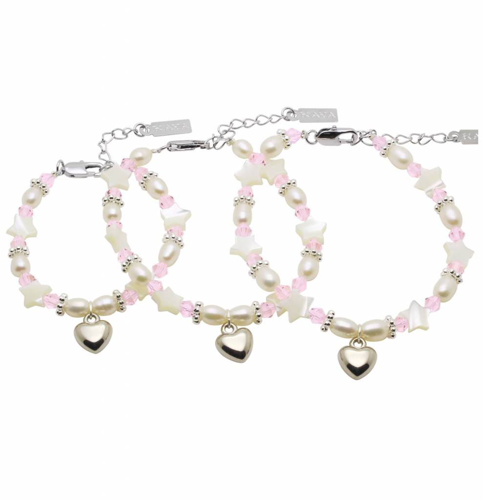 Star 3 Generations Bracelet 'Star Pink' with Heart