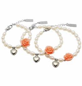 Flower 3 Generations Bracelet 'Flower' with Heart