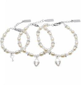 Infinity 3 Generations Bracelet 'Infinity White' Key - Heart