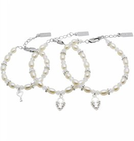 KAYA jewellery 3 Generations Bracelet 'Infinity White' Key - Heart