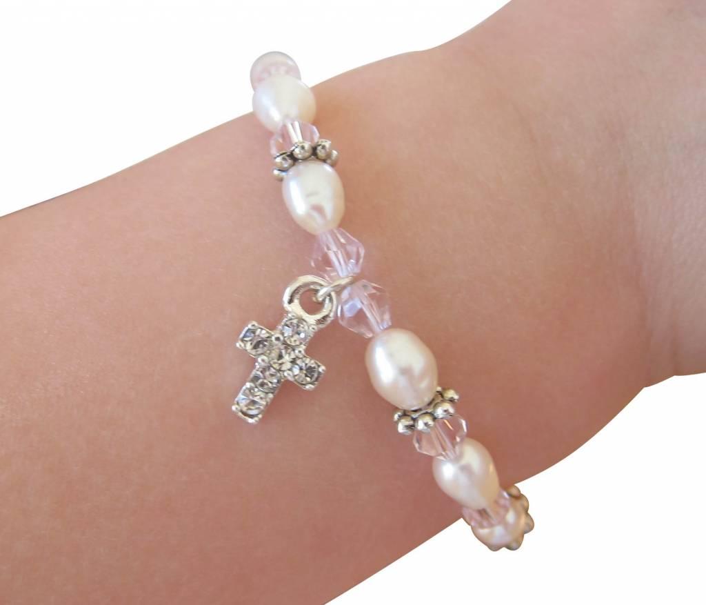 KAYA jewellery 3 Generations Bracelet 'Infinity Pink' Cross