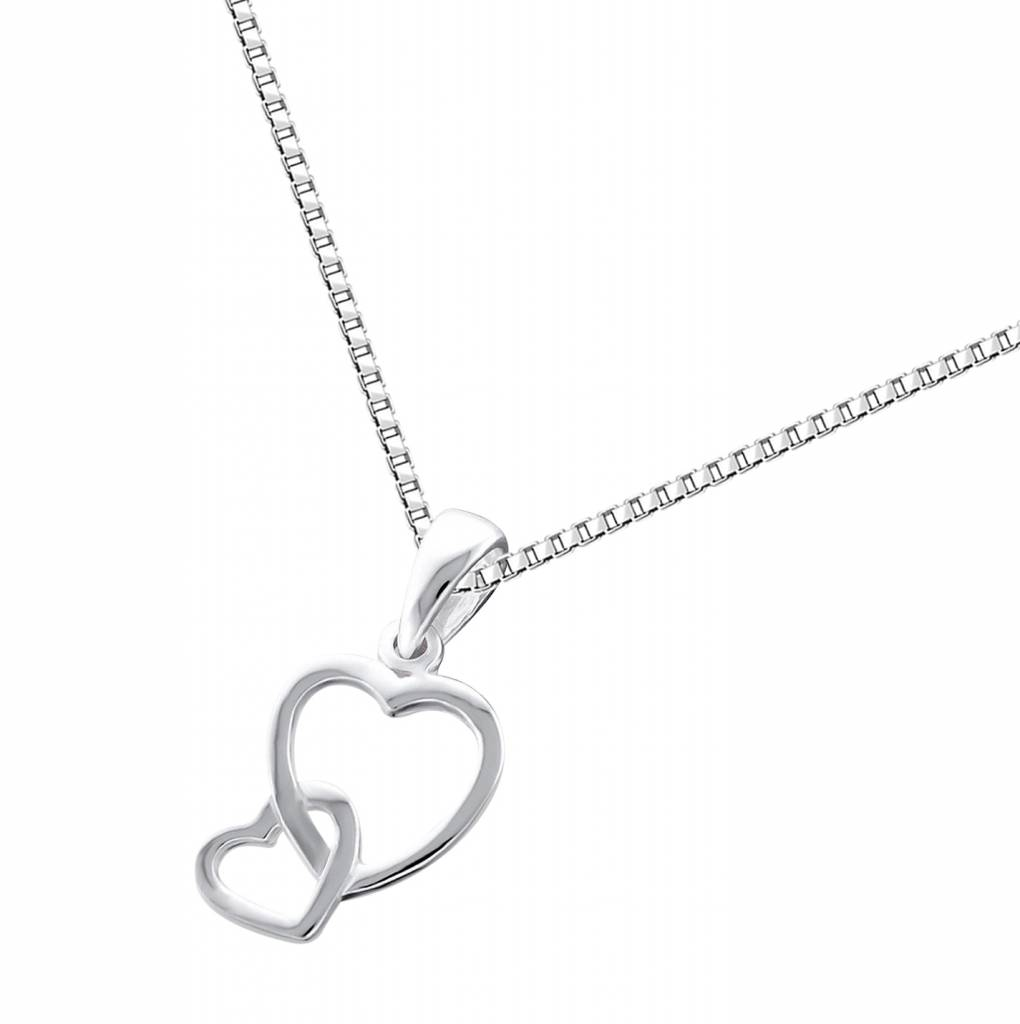 silver jewellery Silver Necklace 'You & Me'
