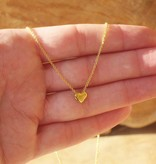 silver jewellery Silver Necklace 'Heart of Gold'