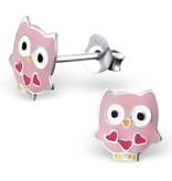 silver jewellery Silver Owl Ear Studs