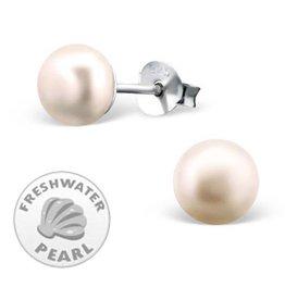silver jewellery Silver Pink Pearl Earrings 7mm