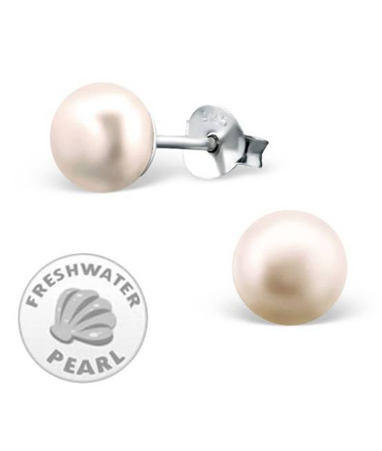 KAYA jewellery Silver Pink Pearl Earrings