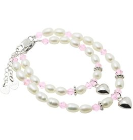 KAYA jewellery Silver Mum & Me Bracelets 'Little Diva' with Hearts