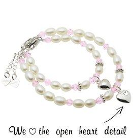 Little Diva (silver) Silver Mum & Me Bracelets 'Little Diva' Heart