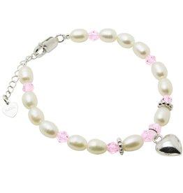 KAYA jewellery Silver Girls Bracelet 'Little Diva' with Heart Charm
