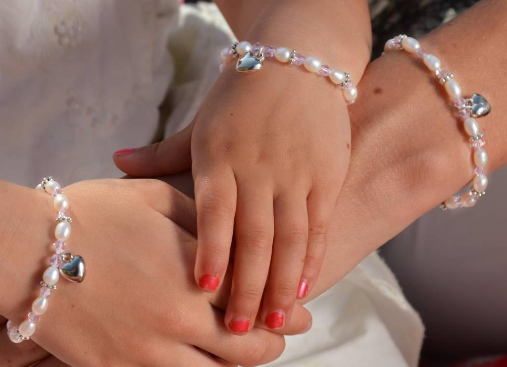 KAYA jewellery Christening - Communion Bracelet 'Infinity Pink' Little Angel