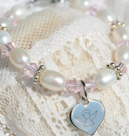 Infinity Christening - Communion Bracelet 'Infinity Pink' Little Angel