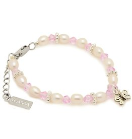 Infinity Girls Bracelet 'Infinity Pink' with Butterfly