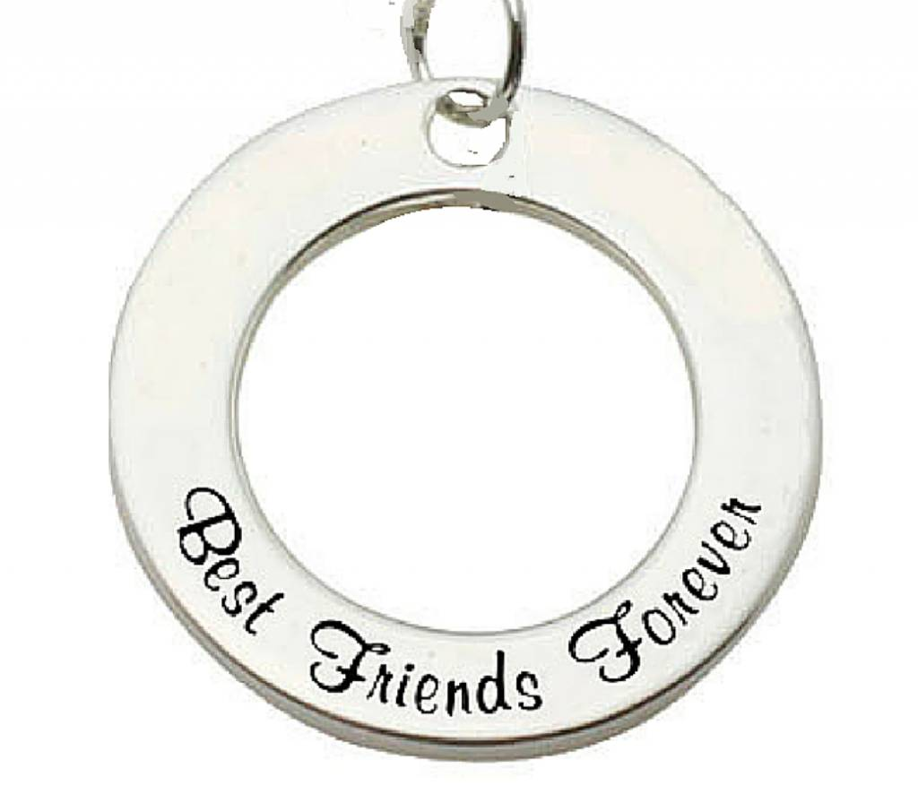 Words of Love (silver) Sterling Silver Pendant 'Best Friends Forever'