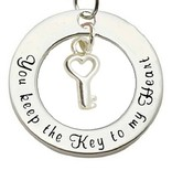 KAYA jewellery Silver Pendant 'You keep the Key to my Heart'