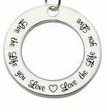 Words of Love (silver) Sterling Silver Pendant 'Live the Life you Love...'