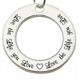 KAYA jewellery Silver Pendant 'Live the Life you Love...'