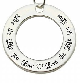 Words of Love (silver) Silver Pendant 'Live the Life you Love...'